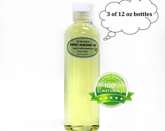 36 OZ Pure Organic Sweet Almond Oil 100% Pure Cold Pressed