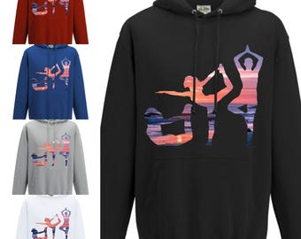 Yoga Orange Sunset Hoodie