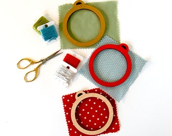 Embroidery Frame for Christmas Ornaments DIY wood frame for hand embroidery embroidery hoop alternative