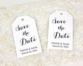 Save the Date Tag - Invitation Tags - Save the Date Tags - Wedding Tags - Custom Tags - Personalized Tags - SMALL