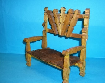 Vintage Clothes Pins Chair Folk Art