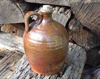 Whiskey Jug Rustic Jug Wood Fired Handmade Pottery