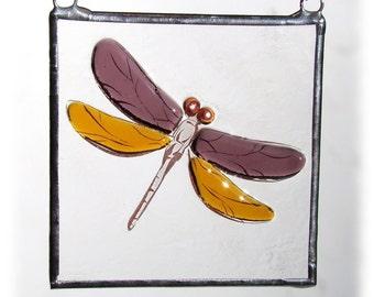 Dragonfly Fused Glass Suncatcher Light Catcher