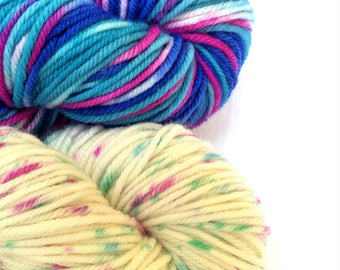 Hand Dyed 8ply Merino Superwash Yarn Knitting Crochet Weaving Wool Fibre