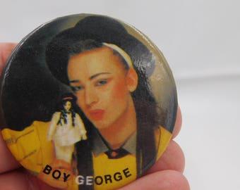 Vintage 1980's Pop Singer Boy George Culture Club Pin Pinback Button DR55