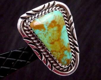 Vintage Sam Graves Tribal Southwest Sterling Silver Turquoise Earrings 22671