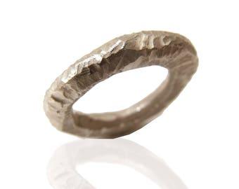 Primitive Statement sterling silver Sculptural ring