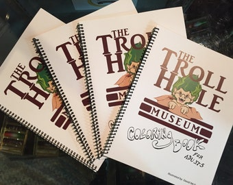 Troll Hole Museum Coloring Book