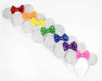 Any Color Minnie Mouse Ear Headband    Disney Ear   Sparkly Minnie Ears   Birthday   Minnie Mouse Party   Mickey Ears   Disney Ears  