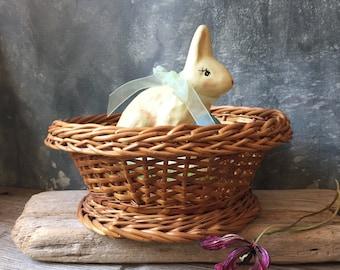 Oval Wicker Basket | Vintage Wicker Bread Basket | Wicker Fruit Basket | Storage Basket | Home Organization | Home Decor
