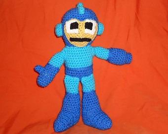 Megaman crochet pattern - crochet robot pattern -  crochet toy pattern - crochet android pattern - amigurumi pattern PDF Instant Download