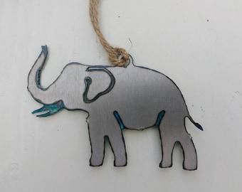 Patina Elephant Ornament