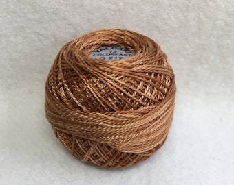 Valdani O 217 Size 12 Pearl Cotton Variegated Hand Dyed Thread Color-Yummy Pumpkin
