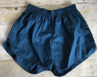 Super Short Vintage Running Shorts - Blue Athletic Shorts - Medium - Tiny Shorts - 70's -