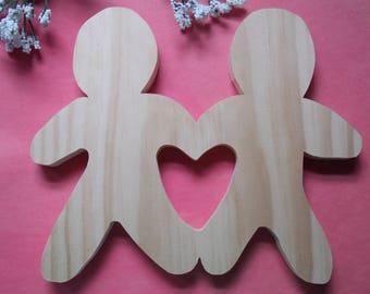 Ginger Bread Men Unfinished DIY Wood Decorations