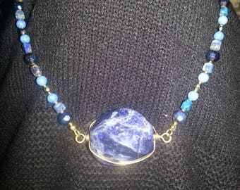 Handmade OOAK #42 blue necklace