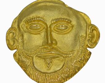 Mask of Agamemnon Gold Plated Pendant - Brooch