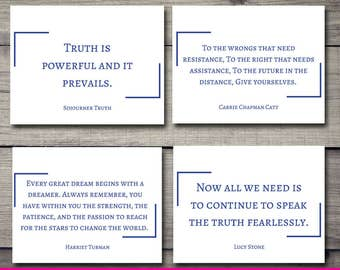 Women's History Month Stationery - Blue
