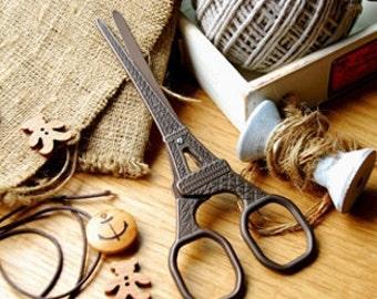 Scissors Sewing Supplies DIY Manual Yarn Cut Thread Scissors-Eiffel Tower