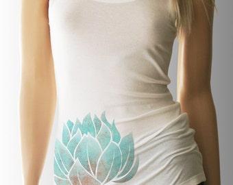 Lotus. Yoga. Yoga Tank. Yoga Shirt. Yoga Clothes. Yoga Clothing. Yoga Top. Yoga Tank Top. Yoga T Shirt. Yoga TShirt. Namaste Shirt.