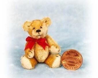 Fatso Junior - Miniature Teddy Bear Kit - Pattern - by Emily Farmer