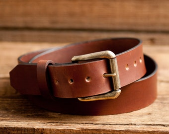 Leather Belt, Full Grain Leather Belt, Brown Leather Belt, Mens Leather Belt, Womens Leather Belt