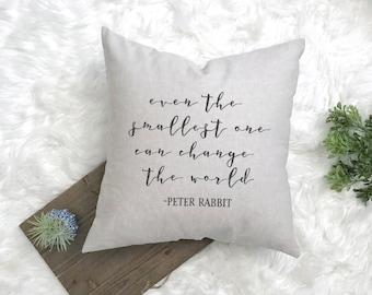 Even the Smallest One - Beatrix Potter Decor- Peter Rabbit Nursery Gift - Peter Rabbit Theme - Peter Rabbit Quote - Rustic Nursery Gift
