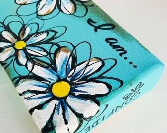 Mini canvas paintings, handpainted art, Mother's day, Painting, Mother's Day art, Flower paintings