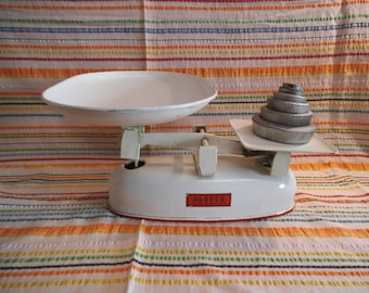 Set of Vintage Harper Scales & Imperial Weights + 3 Extra - c.1950/60's