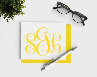 Monogram Stationery - Custom Monogrammed Stationary - Note card set