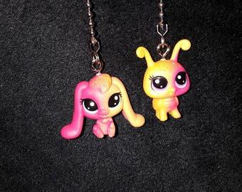 Littlest Pet Shop  Characters Ceiling Fan Pulls, Apricotta Ambergleam, Sunset Glimmerbug