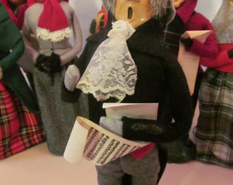 Scrooge 1986 Byers Choice Dickens Christmas Carolers  Byers Christmas Carolers Grey Felt Hat  Dickens Carolers Mr Scrooge Christmas Decor