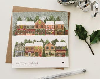 Christmas card 'winter shops'
