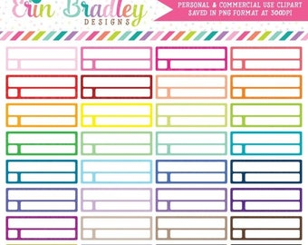80% OFF SALE Reminder Boxes Clipart Planner Clip Art Graphics Commercial Use OK