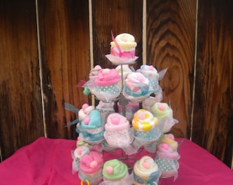 Baby Shower Favors Washcloth Cup Cakes 48 pieces