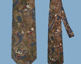 Vintage 90s Mickey Mouse Wide Tie The Disney Store