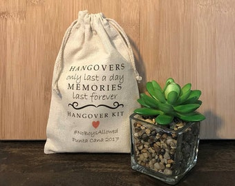 Hangovers Only Last a Day... Set of 8 Hangover Kit Bags