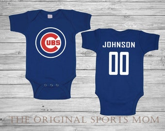 Personalized Chicago Cubs - Baby One Piece/Bib!  Chicago/Baseball/Cubs - Perfect as a Baby Shower Gift or Baby to Come Home In!