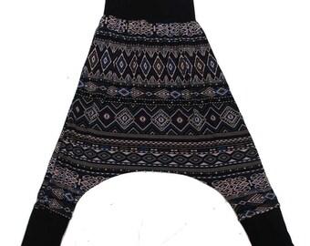 Grow with me harem pants, aztec harem pants, kids harem pants, pants with pocket, baby harem pants, jersey pants, clothes diapers pants