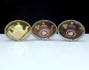 MTO-Chocolate Teapot Gift Box - 12th Scale Dollhouse Miniature