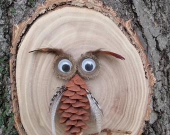 Wooden Owl Wall Art