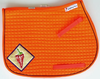 Be Stellar! Pony Saddle Pad for English riding in Safety Orange HP-87