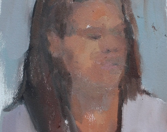 portrait painting / oil sketch / alla prima painting by Michelle Farro