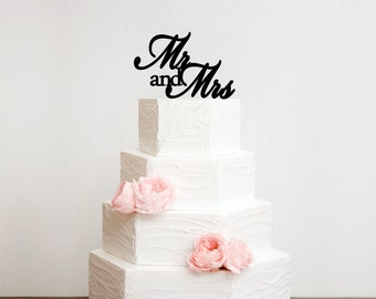 Mr and Mrs Wedding Cake Topper - Bridal Shower Topper