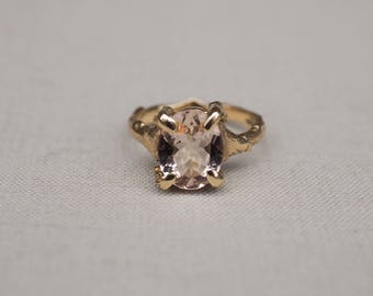 Solid Gold Drop In The Wild Morganite Ring