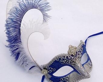 Blue Princess Masquerade Mask U184