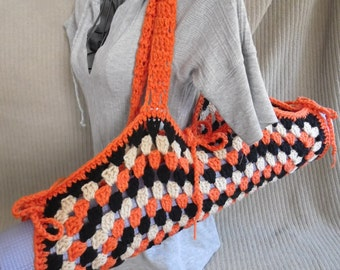 Yoga Mat Bag, Granny Square, Oregon State Original HH Design