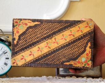 Keepsake Box - Carved Wooden Box - Wood Box - Jewelry Box - Vintage Memory Box - Trinket Box - Treasure Box - Wooden Box - Mom Gift