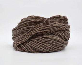 Light Brown Weaving Yarn, Navajo Weaving Yarn, Wool Yarn, 4oz skein