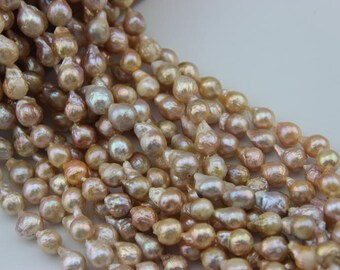 11-12mm Natural Pearl Necklace baroque  light Edison pearl ,For wedding necklace,L-BM-0053